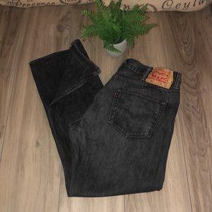 """Men's Levi's blk stone-wash 38""""x32"""" 501 jeans"""